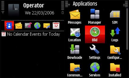 Nokia 5800 XpressMusic original theme.