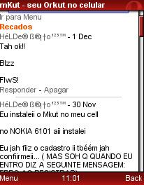 mKut: Orkut via celular.